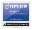 testsieger branchentelematik 2017 colored:h100