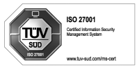 tuev sued iso 27001 grayscaled:h100