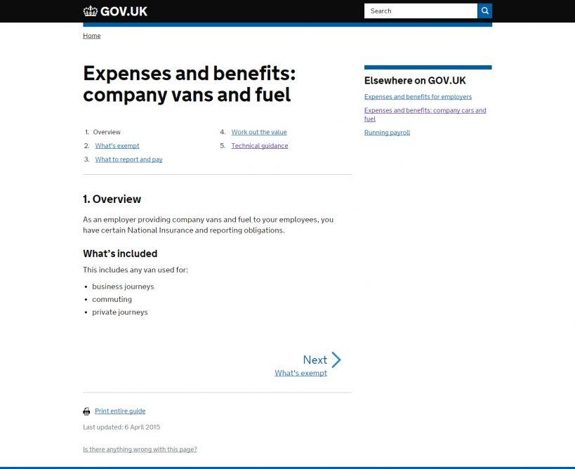 HMRC-tax-on-company-vans
