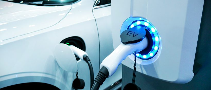 EV's charging station for an electric vehicle fleet